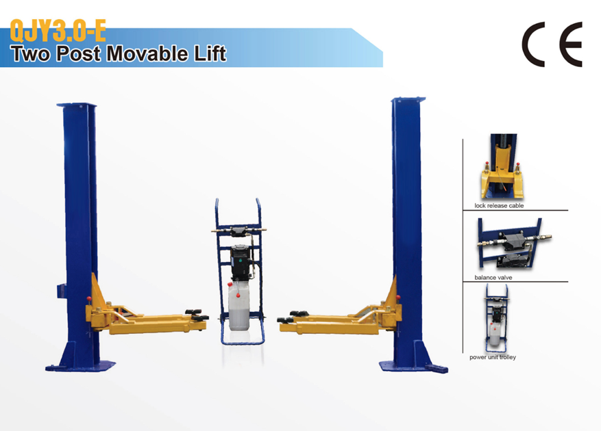 Movable Two Post Lift : Low ceiling lift two post auto car lifts truck hoists